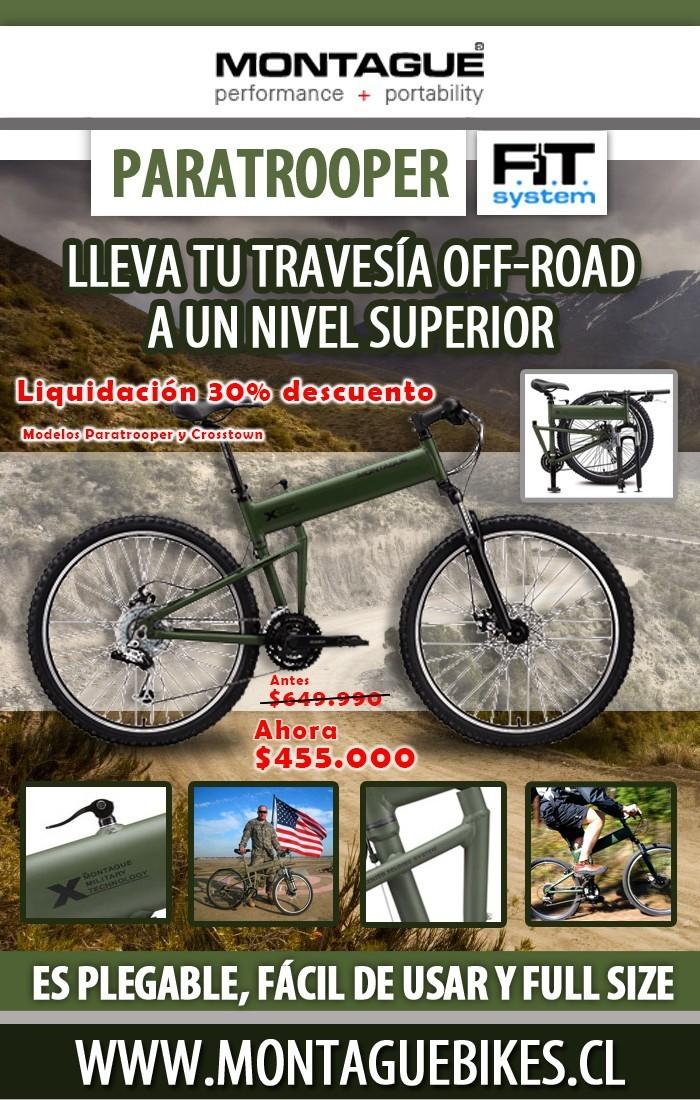 Montague Bikes - Liquidación Bicicletas Montague 40%, 10% adicional por abril (Hasta agotar stock)