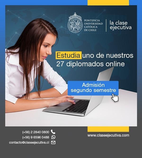 Clase Ejecutiva Online UC - Estudia uno de nuestros 27 diplomados online